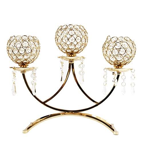 allgala 3-Arm Bowls Tealight Candelabra Candle ()