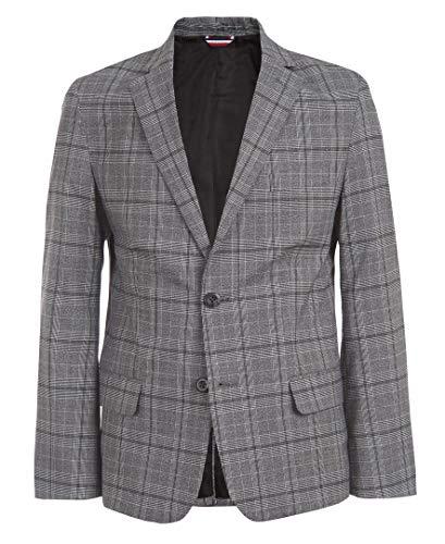 Tommy Hilfiger Boys' Big Patterned Blazer Jacket, Plaid Black, 16
