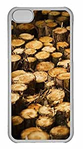 LJF phone case iPhone 5C Case, Personalized Custom Tree Harvest for iPhone 5C PC Clear Case