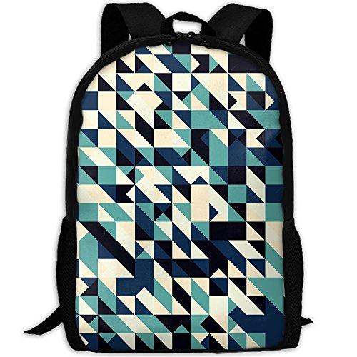 Markui Adult Travel Hiking Laptop Backpack Creative Geometry Background School Office Multipurpose Zipper Bags Fashion Durable Daypacks