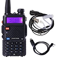 Zastone V8 Walkie Talkie 128-Channel 5W VHF/UHF Two-Way Radio With Earpiece and PC Cable