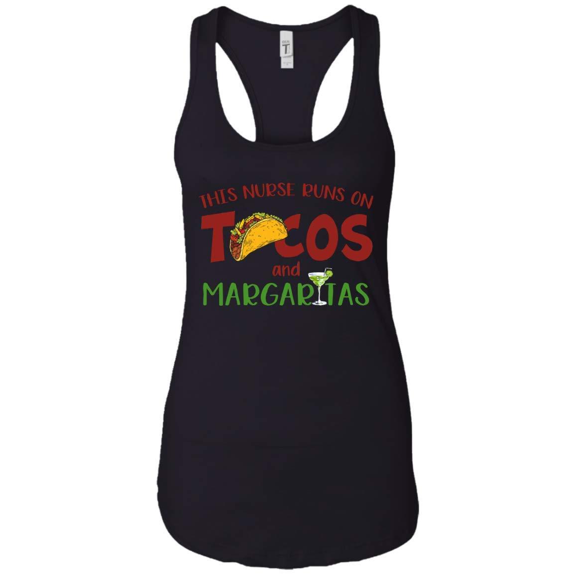 Mktee This Nurse Runs On Tacos Margaritas Tshirt Nurse Gifts Tank Top For Girls Mother S D