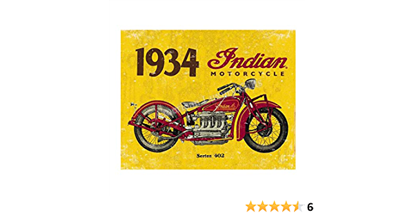 1934 Indian motorcycle biker tin metal sign buy wall hangings