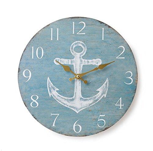 KEYSTONE Old Look Antique design Wall Clock Blue OLCLWCAB from Japan