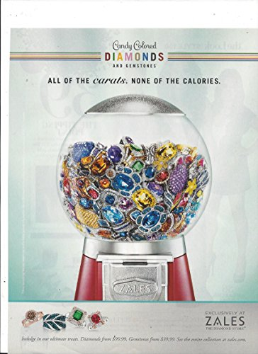 - MAGAZINE AD For 2012 Zales Candy Colored Diamonds & Gemstones Bubble Gum
