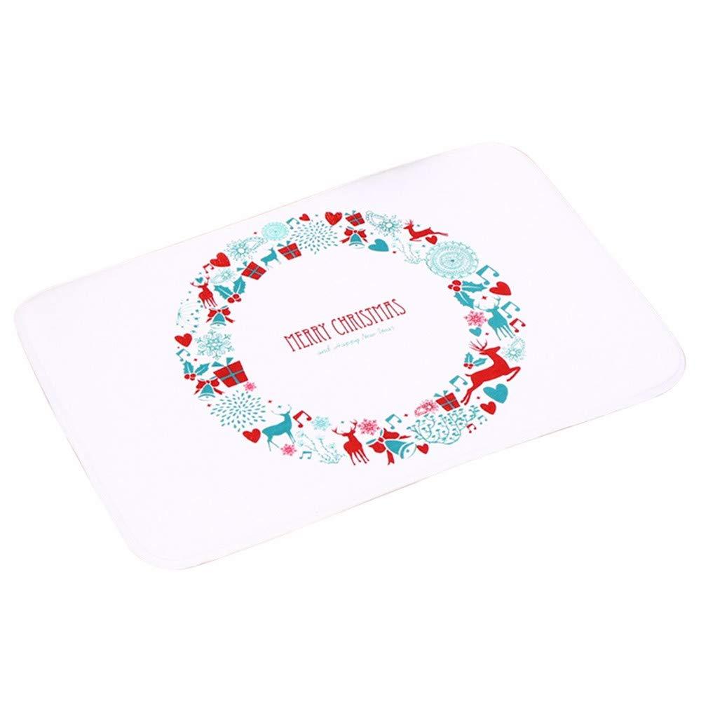 Christmas Shmei Welcome Doormat Indoor Home Carpets Decor Rag Rug Non Slip Floor Mat for Home (G)