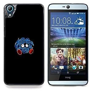 """Qstar Arte & diseño plástico duro Fundas Cover Cubre Hard Case Cover para HTC Desire 826 (Azul Pekemon"""")"""