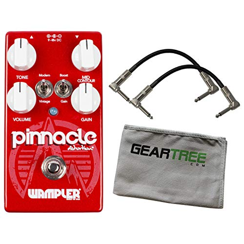 Wampler Pinnacle STANDARD Distortion Pedal UPDATED w/ 2 Patch Cables and Polish