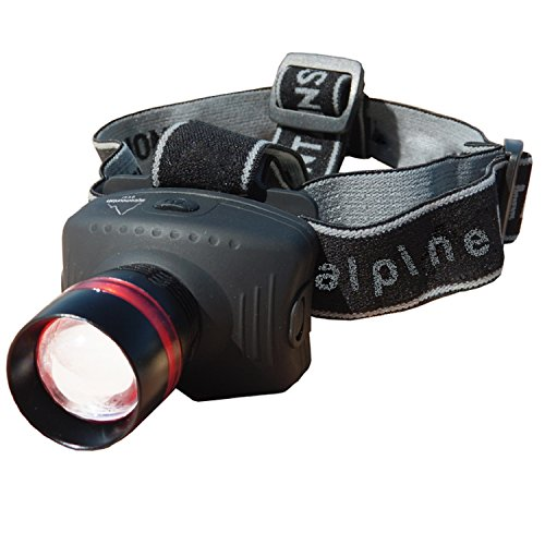 Alpine Mountain Gear 130 Lumen Multi Focus Head Lamp, Black by Alpine