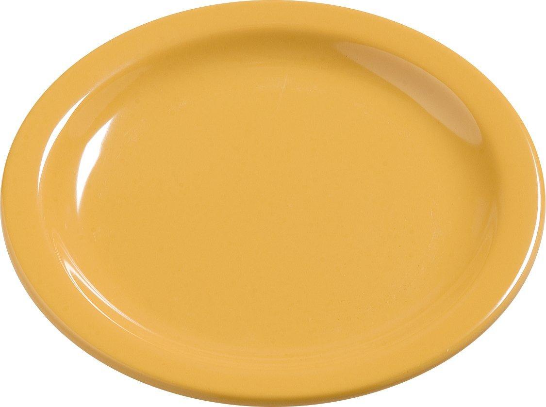 Carlisle 4385622 Dayton Melamine Bread & Butter Plates, 5.5'', Honey Yellow (Set of 48)