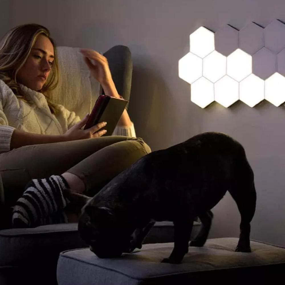 Wandleuchte drahtfreie Quantenberührung Induktion hexagonale Wabe Wabe LED Spleißlampe Idee-12 Lichter mit Power + Nano-Aufklebern 9 Lichter mit Power + Nano-aufklebern