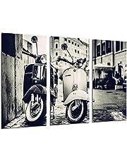 Cuadro Fotográfico Motos Vespa Vintage Tamaño total: 97 x 62 cm XXL