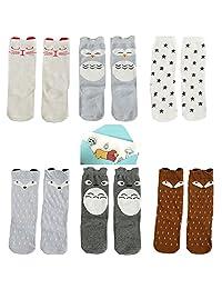 Lucky staryuan ® Prime Deals Baby Socks Knee High Stockings 6 Packs