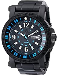 REACTOR Mens 56518 Fallout 2 Black Stainless Steel Watch with Link Bracelet