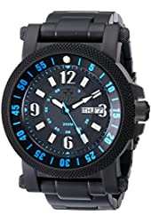 REACTOR Men's 56518 Fallout 2 Black Stainless Steel Watch with Link Bracelet