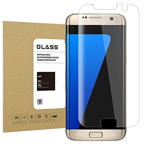 Galaxy S7 Edge Panzerglas Schutzfolie Acoverbest [Ultra Transparenz] [Full HD] [Einfache Installation] [Anti-Fingerabdruck] 9H Härtegrad Displayschutzfolie Schutzglas Für Samsung Galaxy S7 EDGE