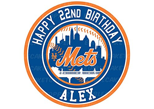 EdibleInkArt New York Mets Edible Cake Topper Personalized Birthday 6