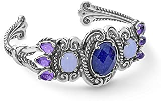 product image for Carolyn Pollack 932 Sterling Silver Blue Gemstone Tassels Cuff Bracelet