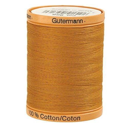 Gutermann Natural Cotton Thread, 800m/875 yd, - Gold 875