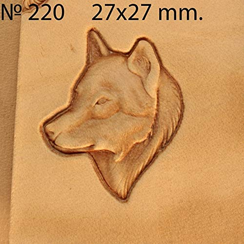 (Leather Stamp Tool Wolf Stamping Working Carving Punches Tools Craft Saddle Brass #220)