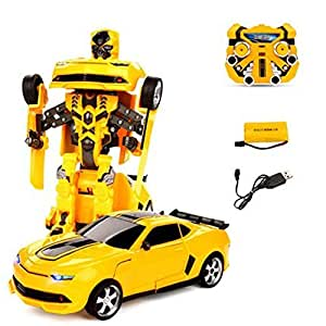 transformers 2 4 g rc remote control deformation bumblebee robot car rechargeable. Black Bedroom Furniture Sets. Home Design Ideas