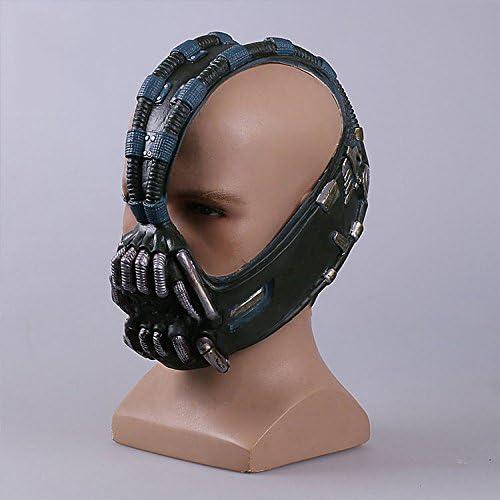 nihiug Batman Dark Knight Rise COS Bain Mask Helmet Batman Halloween Mask Props Bane,Latex-OneSize
