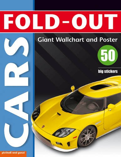 Fold-out Cars Sticker Book, with Giant Wallchart & Poster