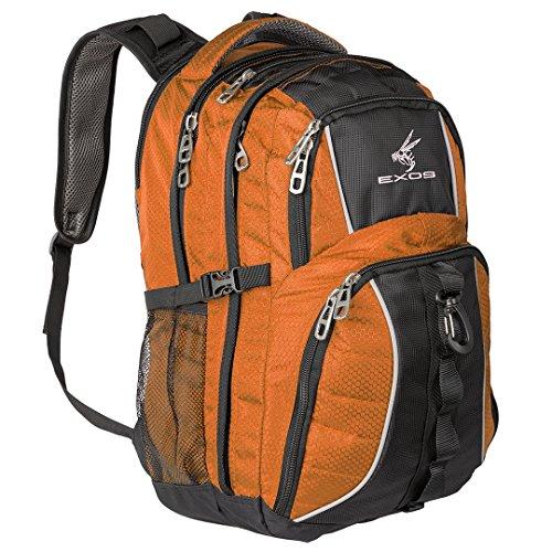 Backpack, (laptop, travel, school or business) Urban Commuter by EXOS (Burnt Orange/Black)