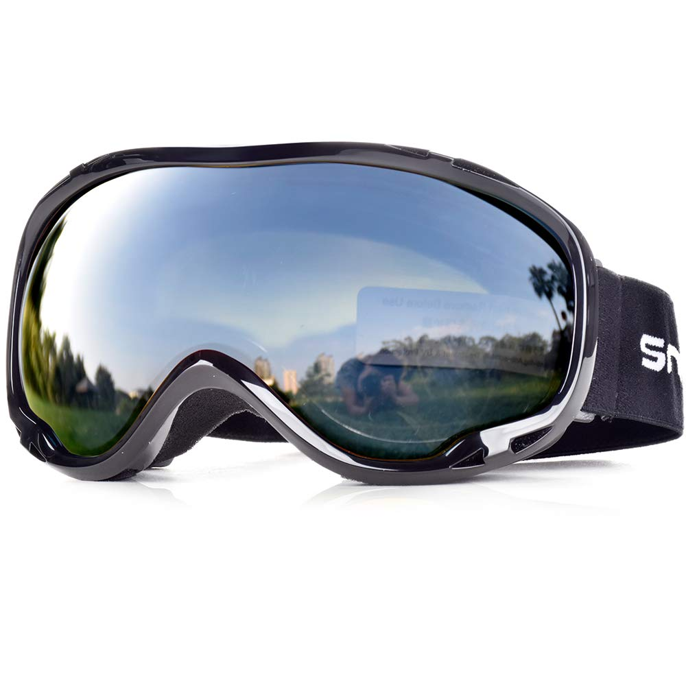 HUBO SPORTS Ski Snow Goggles for Men Women Adult,OTG Snowboard Goggles of Dual Lens with Anti Fog for UV Protection for Girls