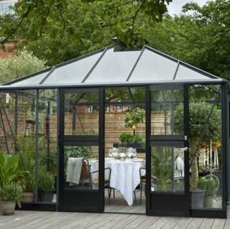 Invernadero de cristal templado Oasis 13, 5 m²: Amazon.es: Jardín