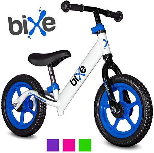 Aluminum Balance Bike for Kids and Toddlers - No Pedal Sport Training Bicycle for Children Ages 3,4,5,6. Compare Bixe to Strider Balancing Bikes