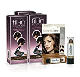 Cover Your Gray Fill In Powder - Dark Brown (3-Pack) with Bonus Touch-up Stick