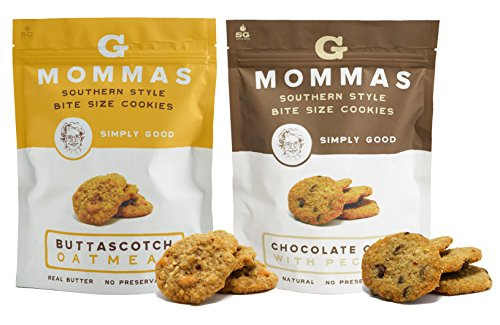 Chocolate Chip Cookies with Pecans and Butterscotch Oatmeal Cookies - G Mommas Homemade Cookies (2 Pack (Pecan Cookie Basket)