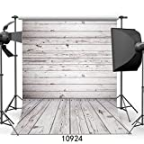 WOLADA 5x7ft Grey Wood Wall & Floor Vinyl Fabric Photography Backdrop Customized Studio Background Studio Props 10924