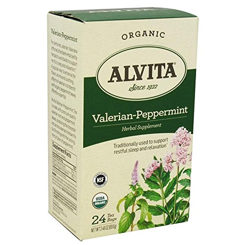 Alvita Tea Bags Valerian-Mint Peppermint - 24 Tea Bags