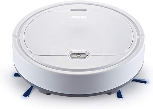 Gfone 3 en 1 USB Robot Aspirador de Limpieza de hogar Robot, Succión 1500pa, Diseño para Pisos Duros y Alfombra, Blanco: Amazon.es: Hogar