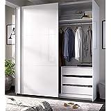Habitdesign ARC150BO - Armario Dos Puertas correderas, Armario Dormitorio Acabado en Color Blanco Brillo, Medidas: 150 (Largo) x 200 (Alto) x 63 cm (Fondo): Amazon.es ...