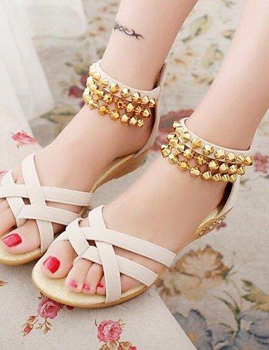 ShangYi Women's Shoes Tassels Toepost Zipper Low Heel Comfort Sandals Dress More Colors Can Available Blue tRvKWQP