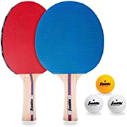 Franklin Sports Conjunto de pá de tênis de mesa com bolas
