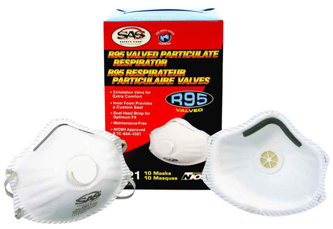 SAS Safety 8621 R95 Particulate Respirator, 10-Pack