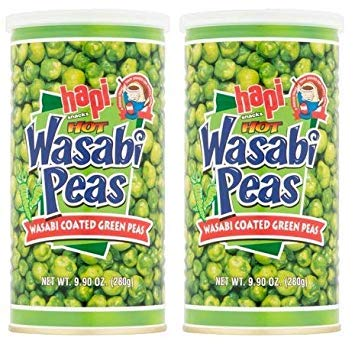 Hapi Snacks Wasabi Peas, Hot, 9.9 Oz (Pack of 2) by by HAPI