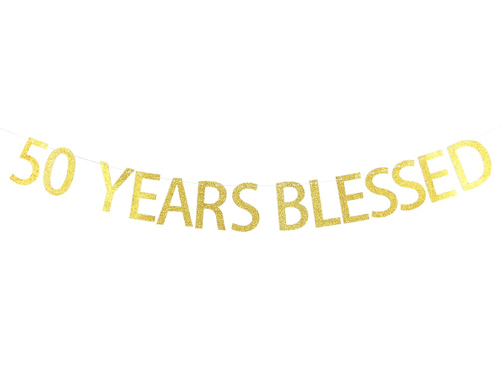 Amazon.com: 50 Años Blessed Banner Sign – 50th cumpleaños ...
