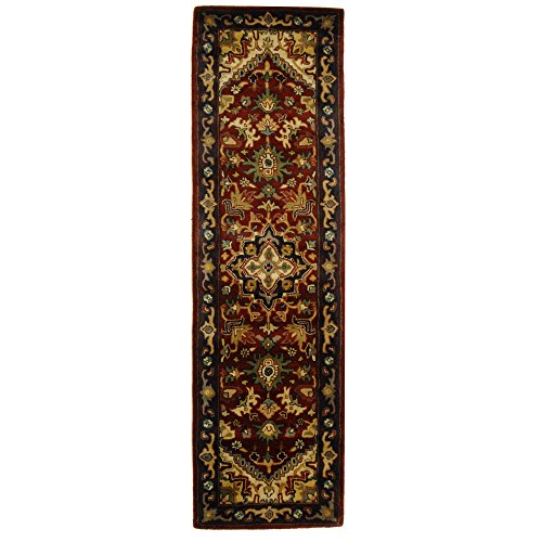 lection CL225A Handmade Traditional Oriental Multicolored and Red Wool Runner (2'3