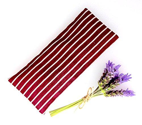 Relaxing Lavender Eye Pillow Uzbek Ikat Silk Purples Stripes Removable Cover Gift Idea Yoga Retreat Sleep Essential Aromatherapy - Silk Ikat Pillow Cover
