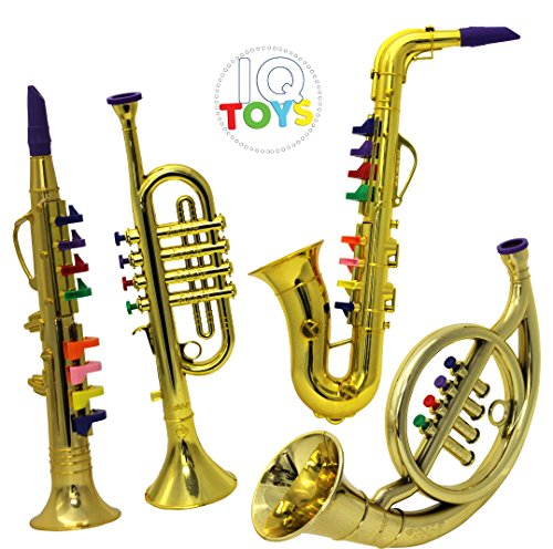 IQ Toys Set of 4 Music 1. Clarinet 2. Saxophone 3. Trumpet, 4. Horn - Horns Musical Instrument