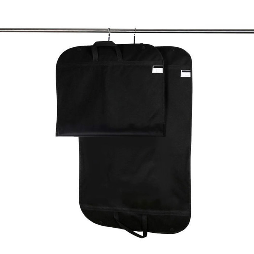 Breathable Travel Garment Bag,Portable Waterproof Suit Covers Carrier Bag Hanging Cloth Cover with Handle 60x100cm(60x100cm,Black) by INLAR (Image #3)