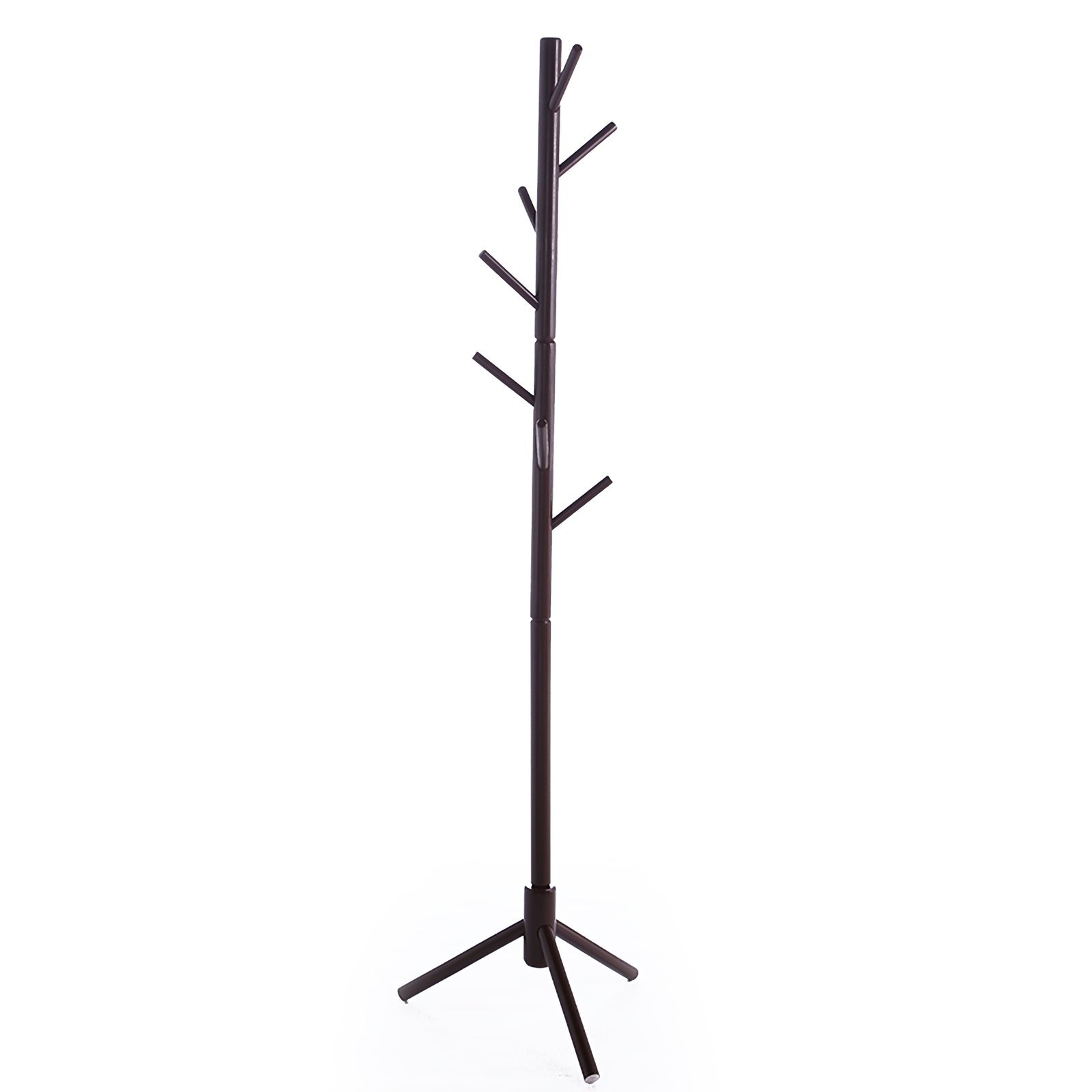 JOYBASE 8 hooks Wooden Coat Rack/Clothes Hanger Stand, for Coats, Hats, Scarves, Jacket and Handbags(Coffee) by JOYBASE (Image #2)