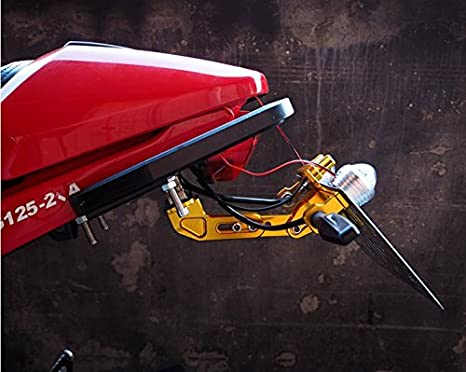 CNC Aluminum Lisence Plate Holder Tail Tidy for Kawasaki Z650 Z750 Z800 Z900 Z1000 Z1000SX Z300 Z250 Green