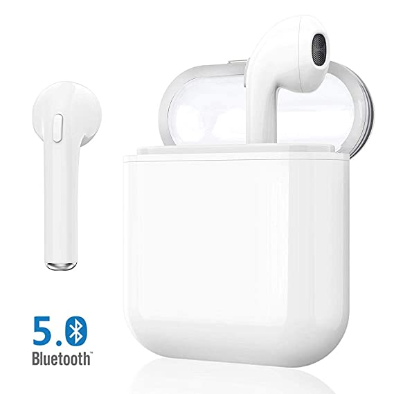 Bluetooth Headphones 5.0, Wireless Earbuds with Graphene-Enhanced Drivers, 3D Stereo Surround Sound, IPX5 binaural Call, Sports Headphones for ...
