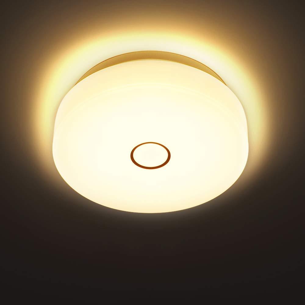 weiße runde moderne LED Badezimmerleuchte Loris Flur Küche Decke Lampe Keller